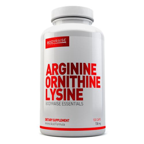 ARGININE ORNITHINE LYSINE 738mg 100caps - BODYRAISE