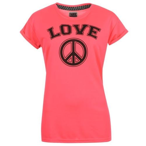 FABRIC WOMENS NEON LOVEPEACE PINK SIZE-XL