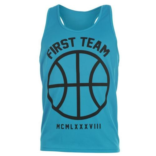 FABRIC MENS NEON VEST FIRST TEAM BLUE