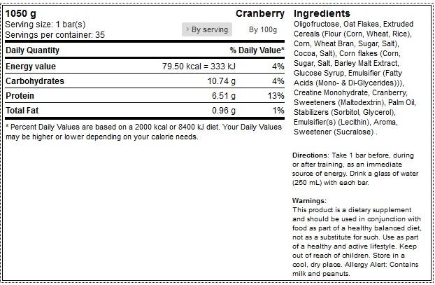 activlab 35-x-master-bar-with-creatine-bar-30-g 1 facts