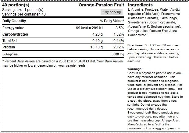 scitec liquid-arginine-338-oz-1000ml 1 facts