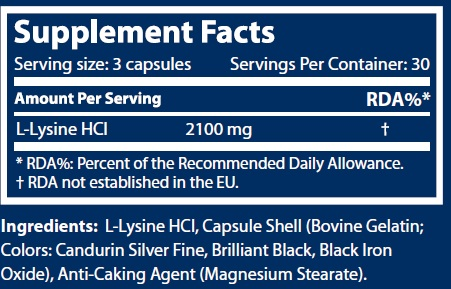 scitec lysine 90caps facts