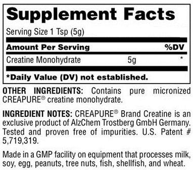 universal creatine-powder-300g 1 facts